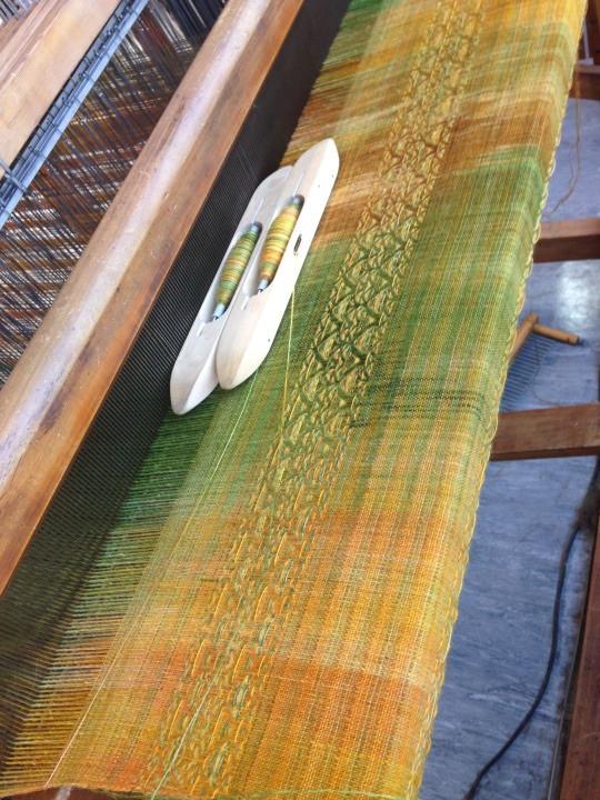 Hand woven fabric, Wool & alpaca scarf