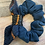 Thumbnail: Navy Jersey With Military Bow Scrunchie