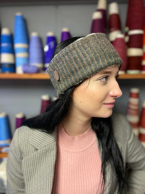 Black, Pink & Yellow Painty Plain Weave Winter Headband