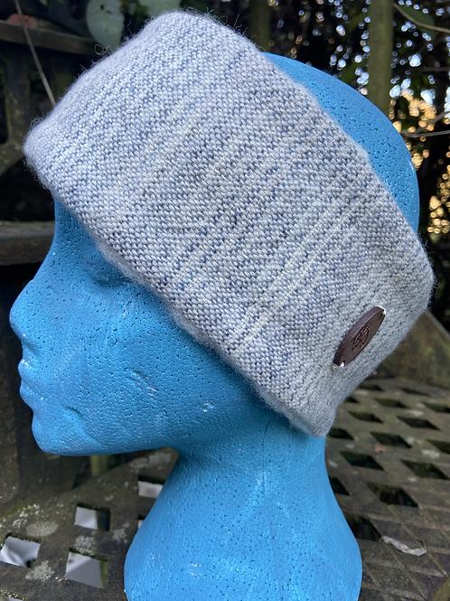 Blue Grey Painty Winter Headband