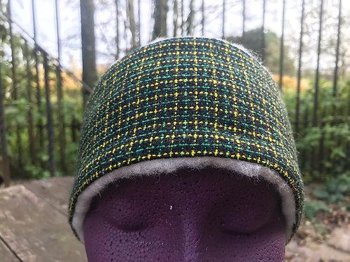 Green, Yellow and Black Check Winter Headband
