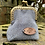 Thumbnail: Blue Grey Subtle Painty Mini Coin Purse