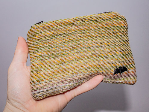 Green Yellow Painty Zip Pouch