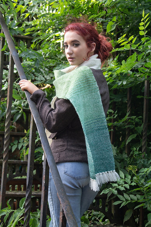 Graduating Green Somerset Wool Scarf