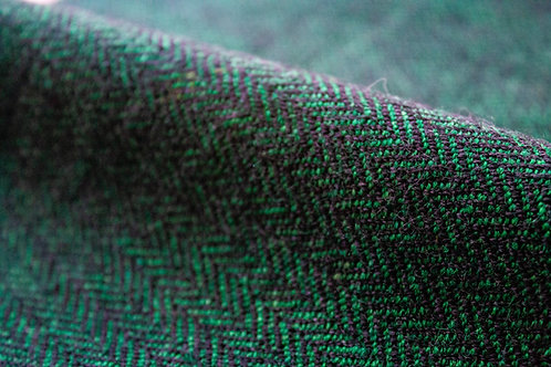 Black & Green Herringbone