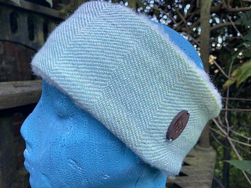 Subtle Blue Green Painty Winter Headband