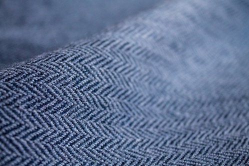 Grey & Navy Herringbone