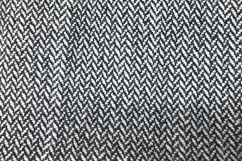 Undyed & Black Herringbone