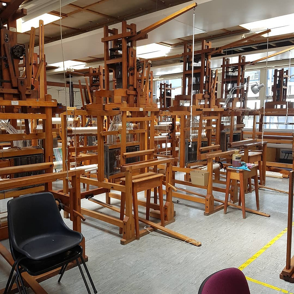 Dobby Loom room at UCA Farnham