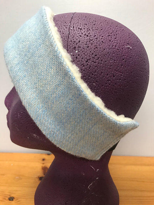 Pale Blue Twill Winter Headband