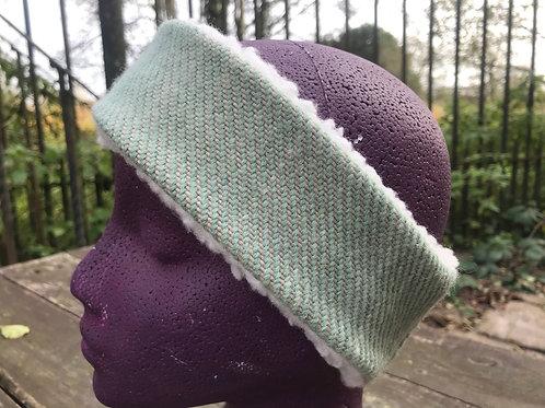 Mint Green Twill Winter Headband