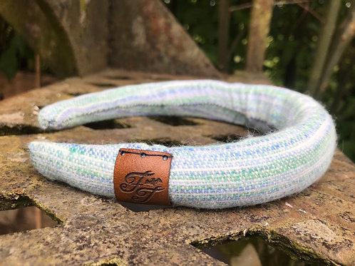 Blue & Green Painty Padded Headband