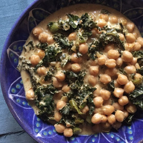 Coconut-Curry Chickpeas & Greens