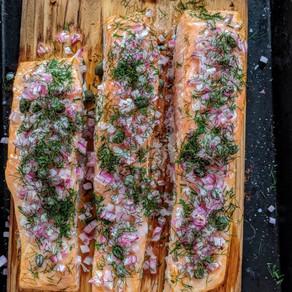Cedar Plank Salmon with Dill
