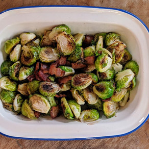 Crispy Brussels Sprouts with Bacon