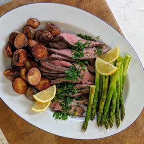 One-Pan London Broil Dinner