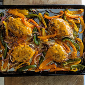 Sheet Pan Cheesy Chicken Fajitas