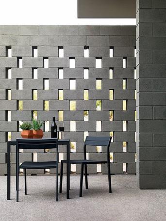 Muro vazado com blocos de concreto