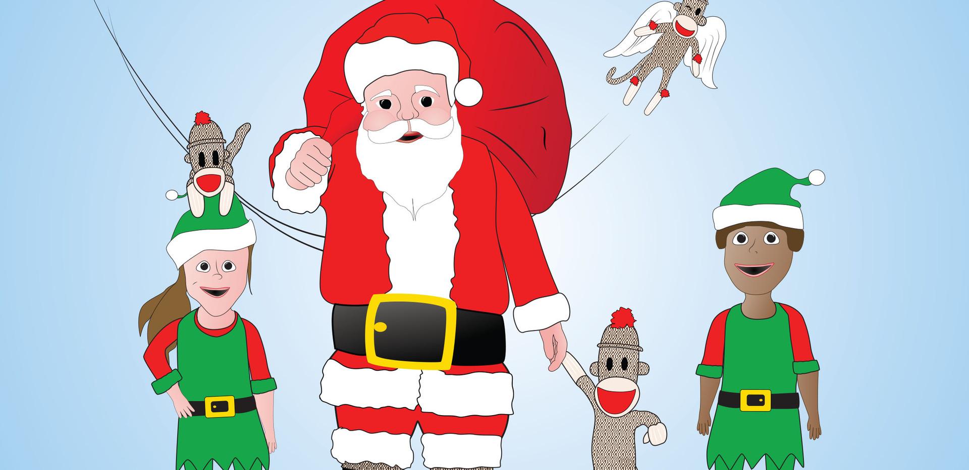 Santa and his friends