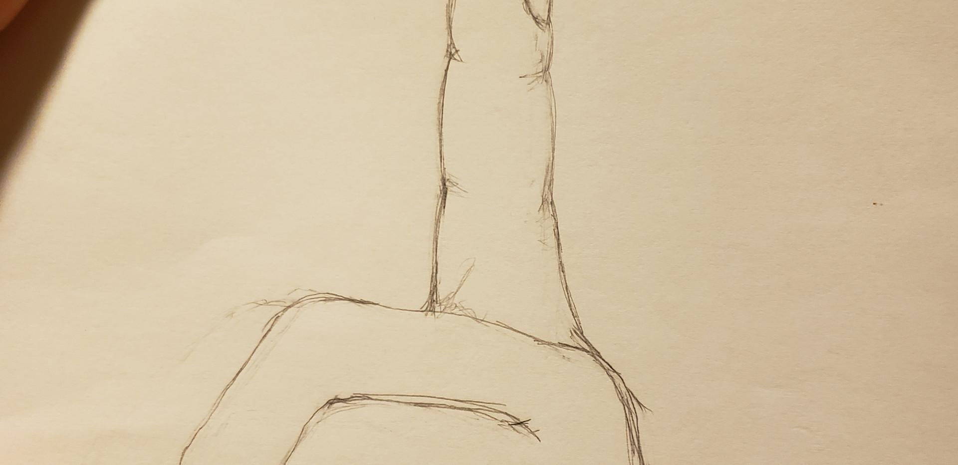 Santa's hand sketch