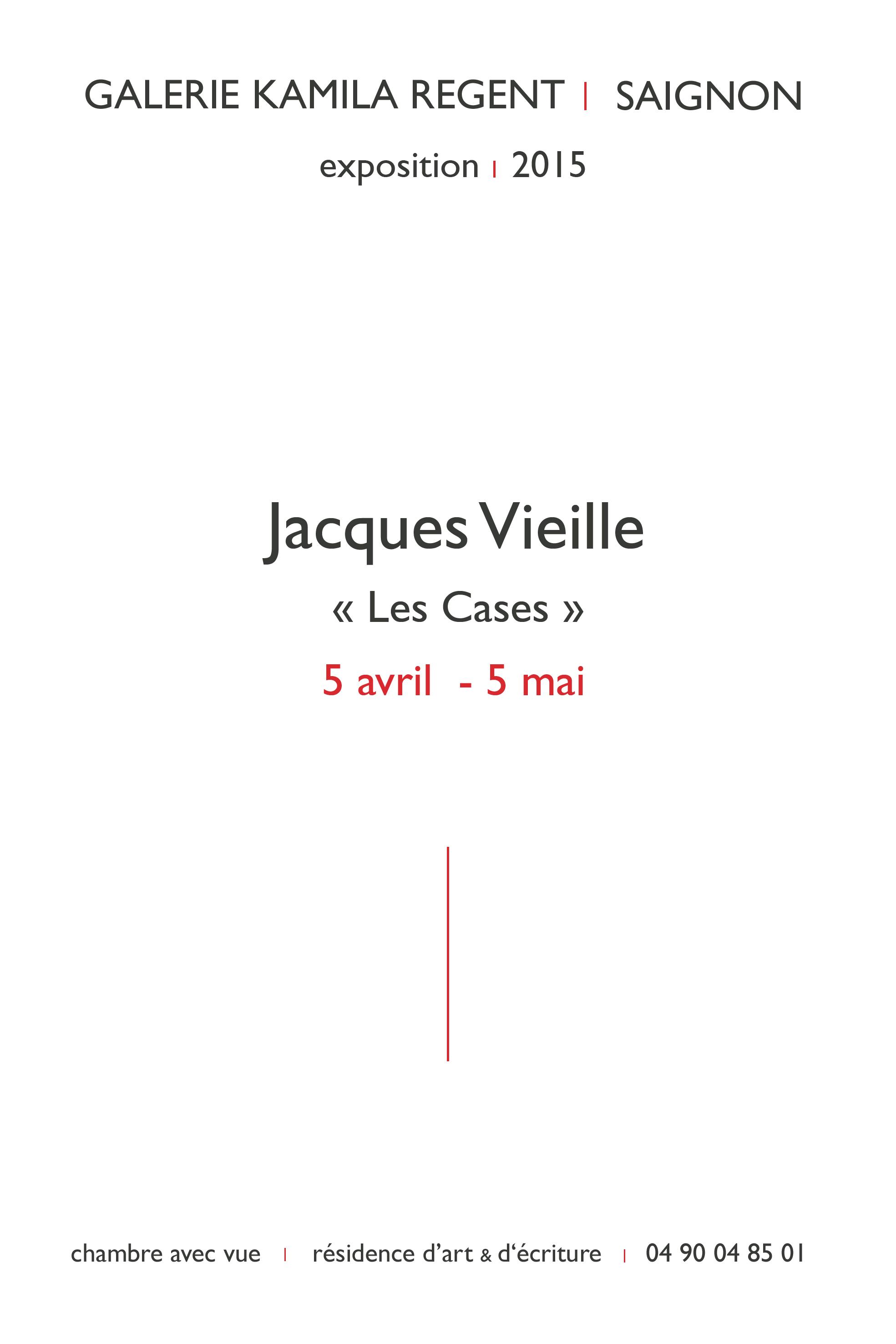 Jacques Vieille | Galerie Regent
