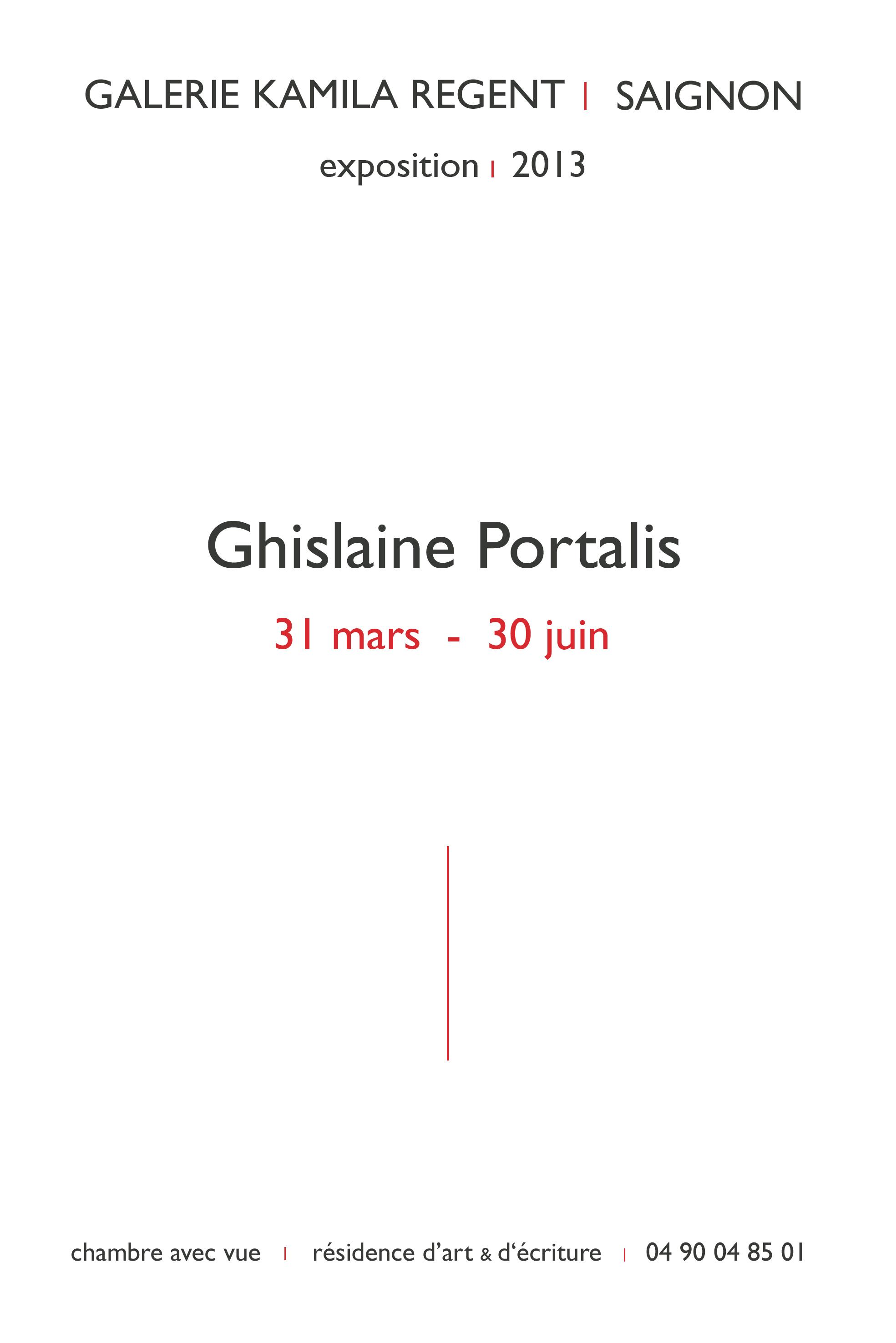Ghislaine Portalis | Galerie Regent