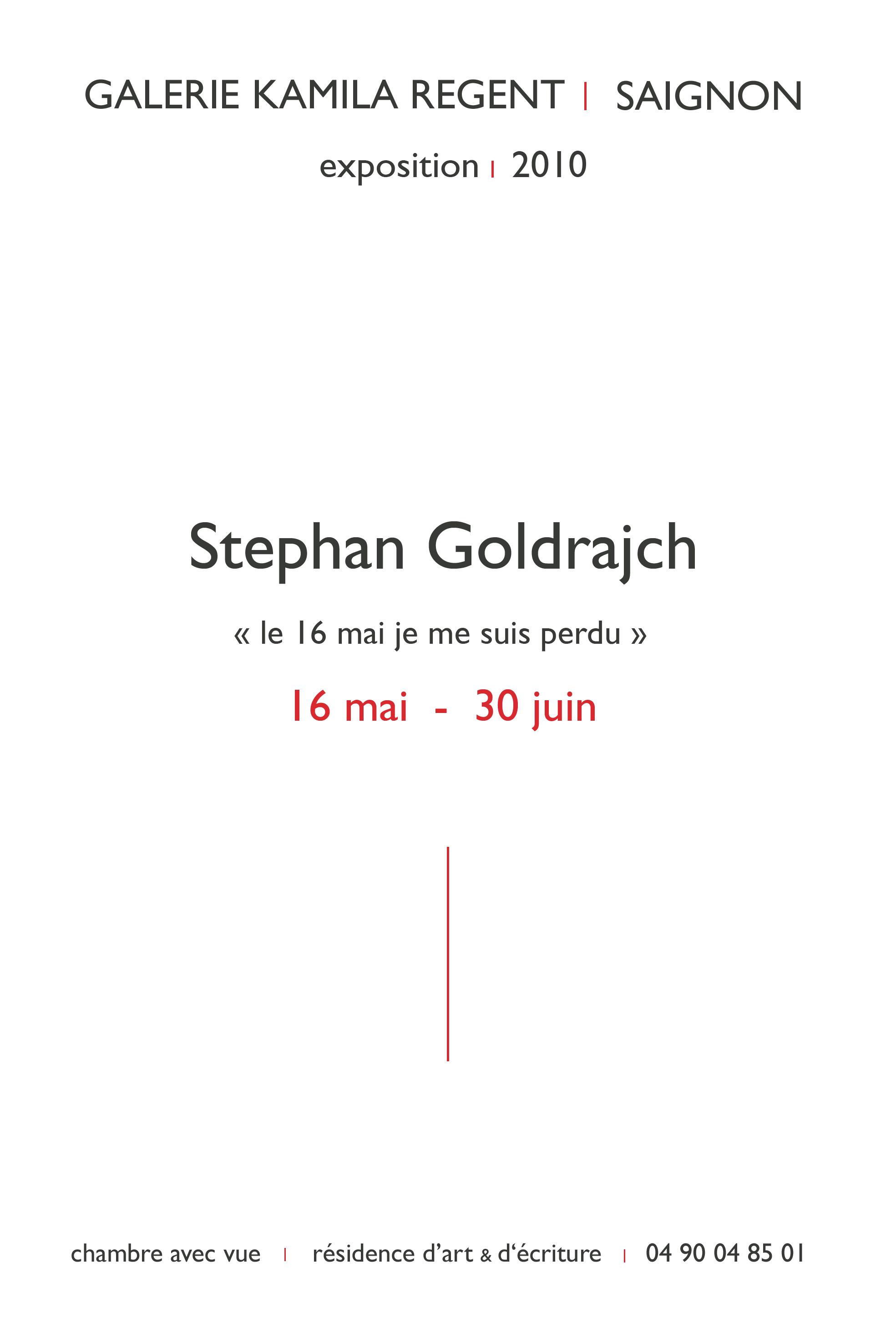 Stephane Goldrajch | Galerie Regent