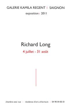 Richard Long | Galerie Kamila Regent