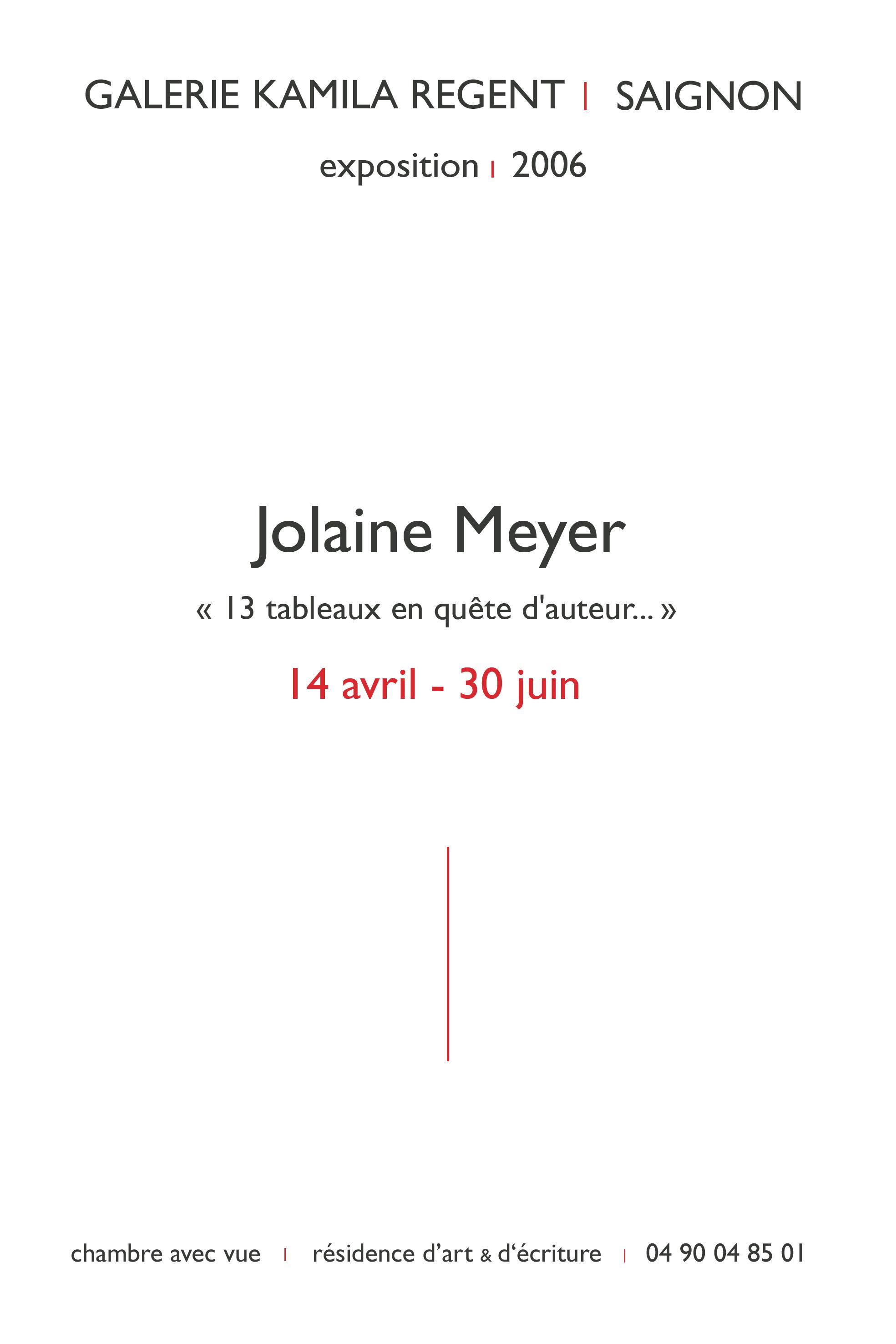 Jolaine Meyer | Galerie Regent