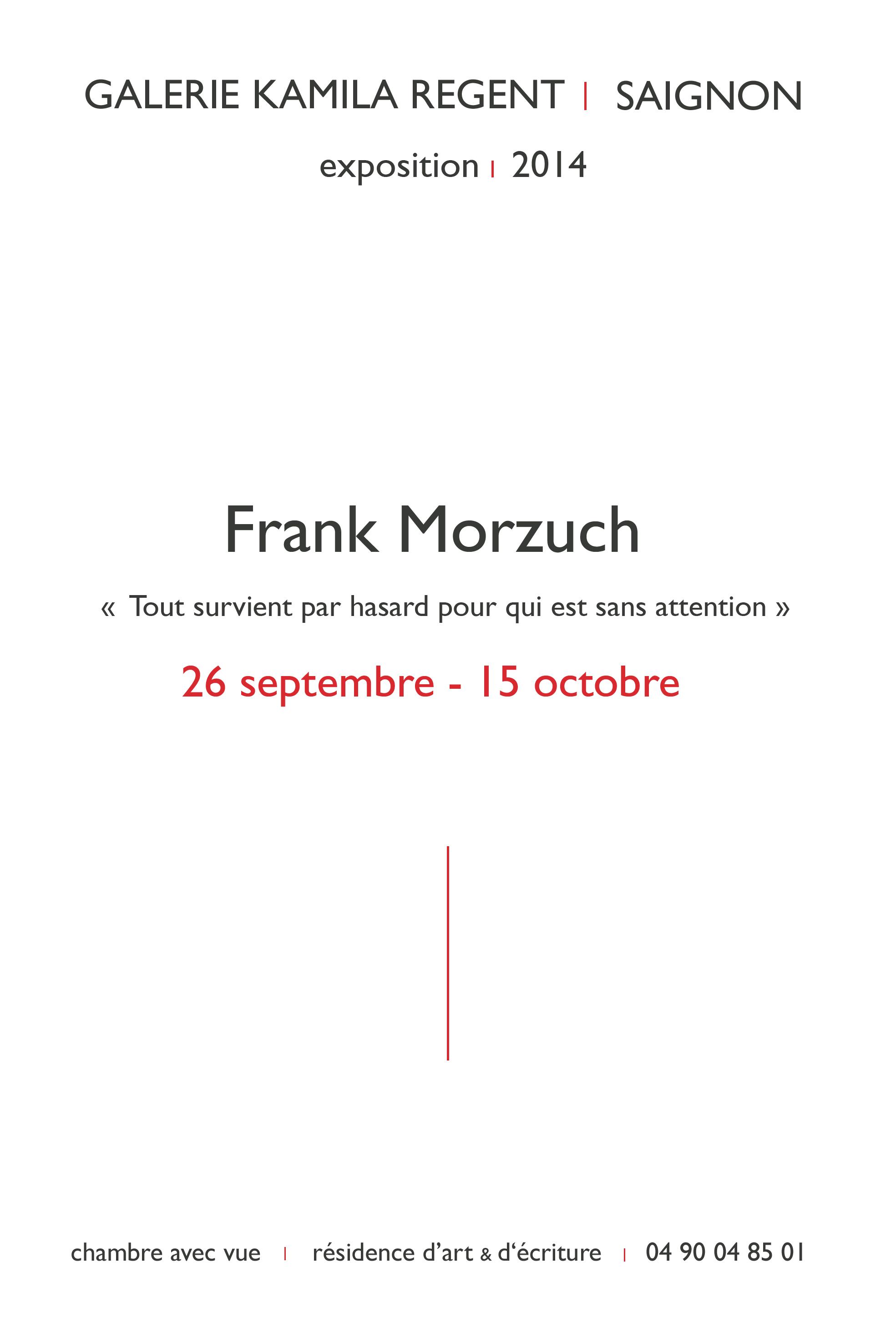 Frank Morzuch |Galerie Kamila Regent
