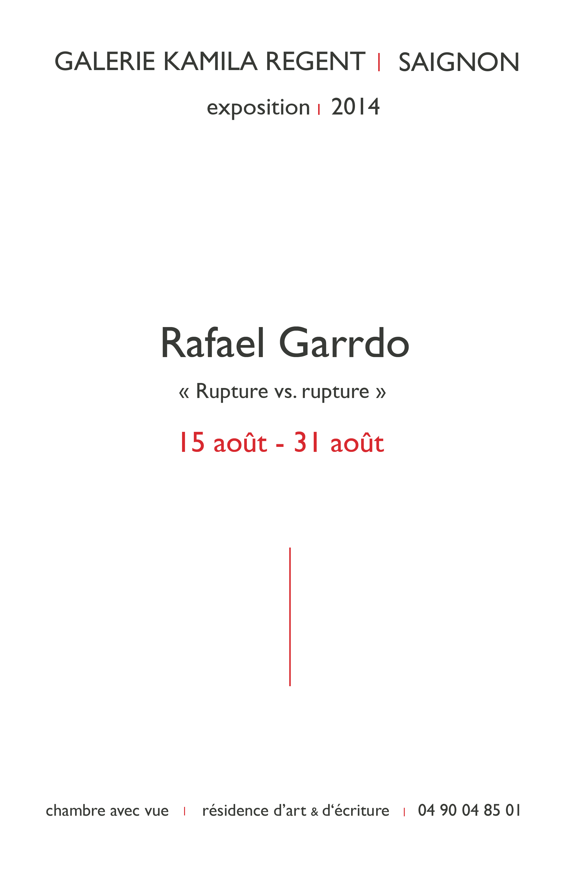 Rafael Garrdo | Galerie Regent
