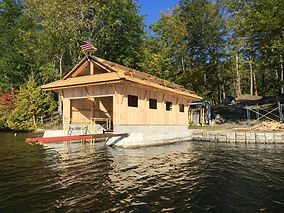 New Timber Frame Boathouse