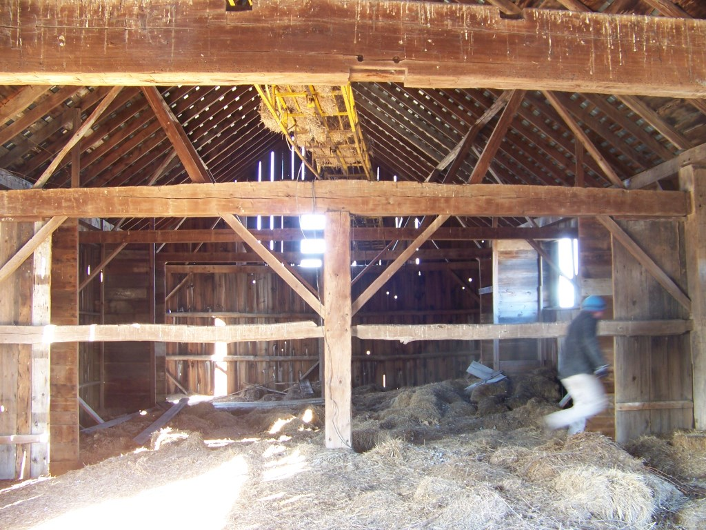 Hand Hewn English Style Barn