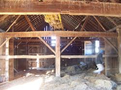 Hand Hewn English Style Barn