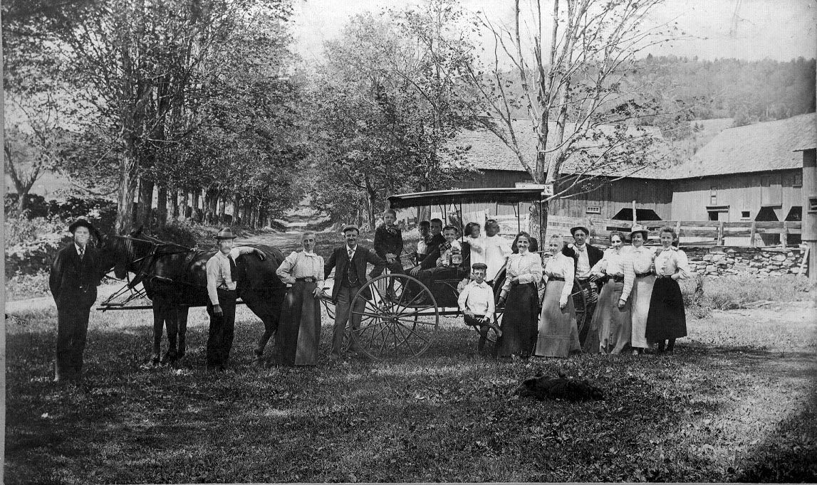 1898 photograph of historic barn