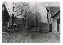 1800s photo of historic barn