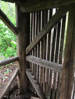 corn crib siding in historic frame
