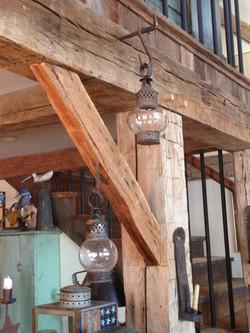 Restored joinery in gunstock frame