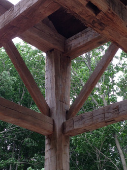 Detail of historic timber frame