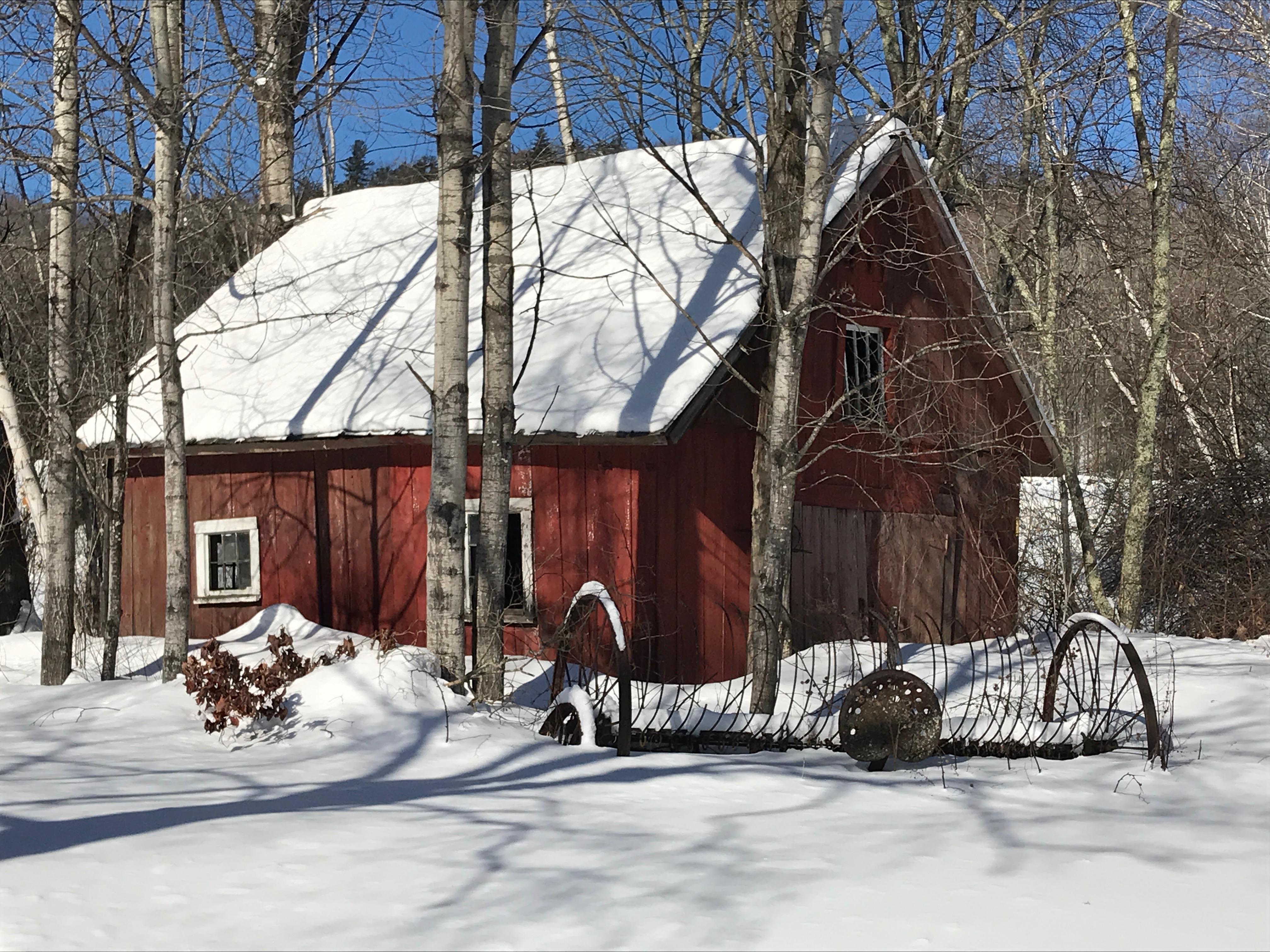 Vermont farm corn crib from 1830