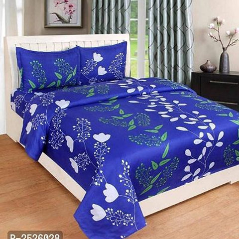 Heavy 3D Double Bedsheet With 2 Pillow Covers