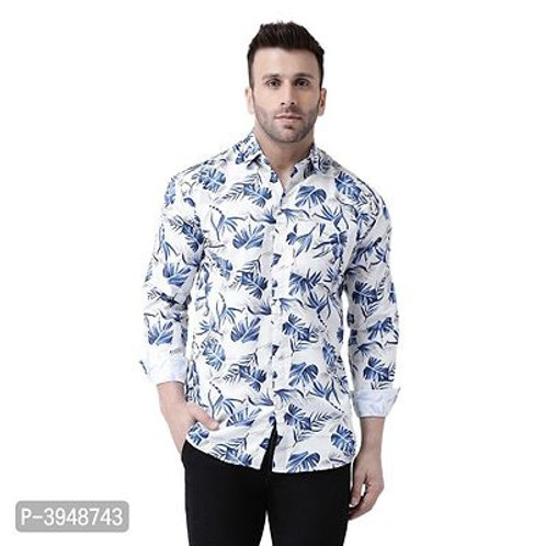 Men's Regular Fit Cotton Blend Printed Casual Shirts
