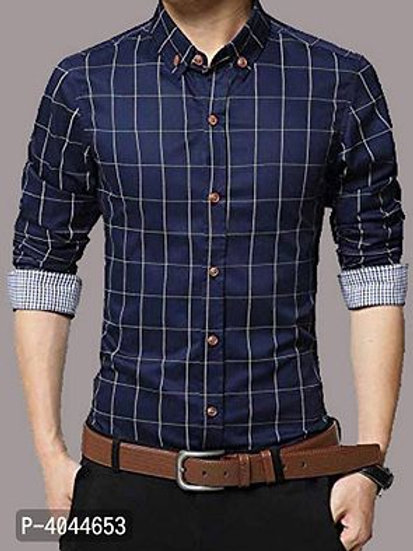 Men's Regular Fit Cotton Checked Casual Shirts