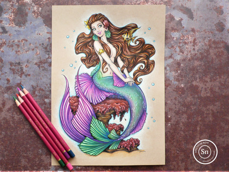 Colouring a Mermaid: Step by Step Tutorial