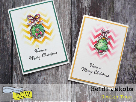 Clean And Simple (CAS) Christmas Cards