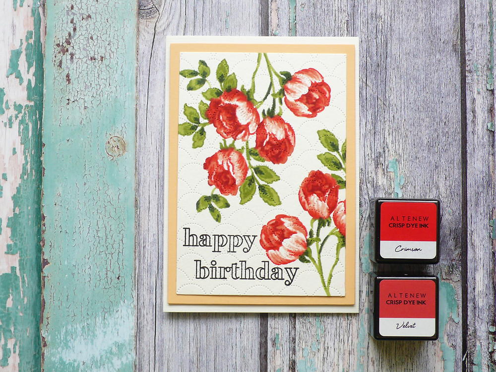 Altenew Sweet Rose Bouqet stamp set