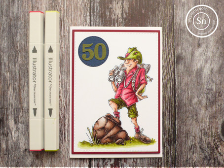 Masculine Birthday card with SN Illustrator Markers
