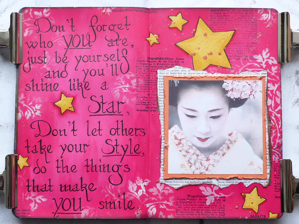 Mixed Media Place Art Journal Page