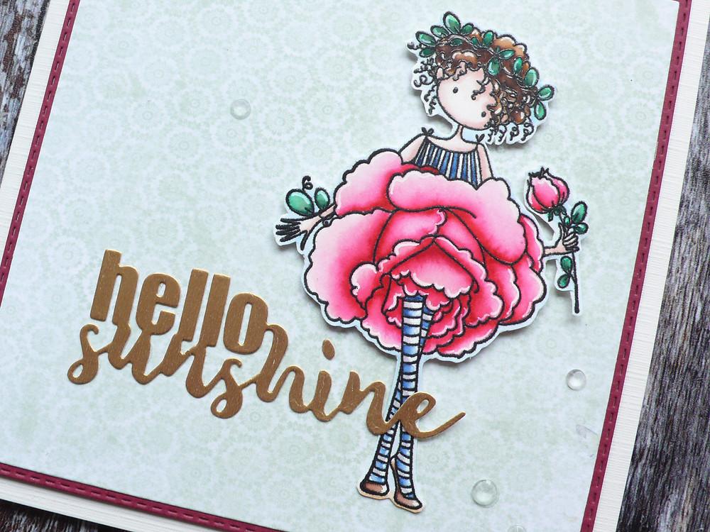 Stamping Bella Garden Girl Rose