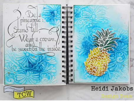 Art Journal Page: Pineapple